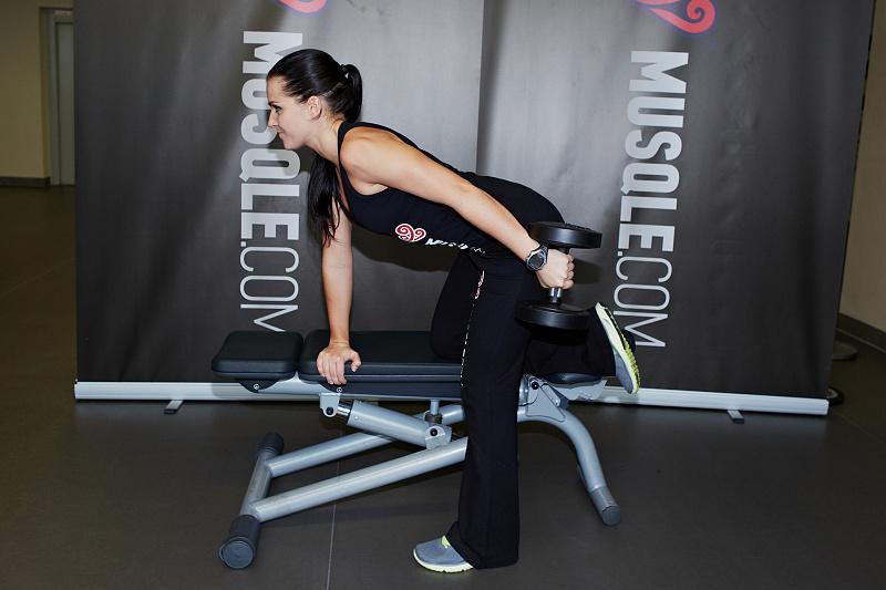 Kickback triceps haltères - MUSQLE